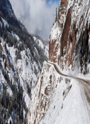 Scary pass over Red Mountain Pass