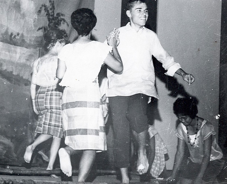 Terry dancing the Tinikling in Leyte