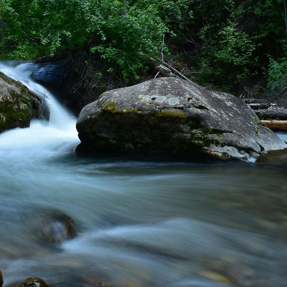 Boulder Creek small waterfall