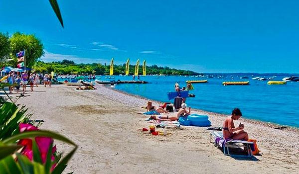 Lake Garda beach scene