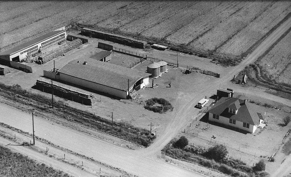 Marshall farm Center from the air