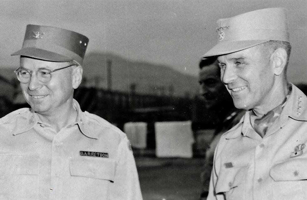 Col. Garretson with Gen. Maxwell Taylor