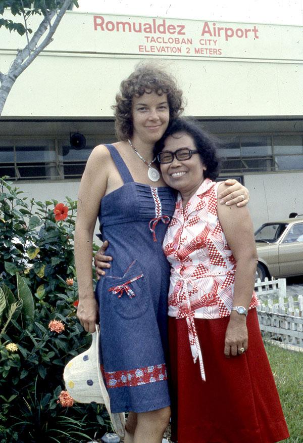 Ann Marshall and Mrs Villacorte, 1978
