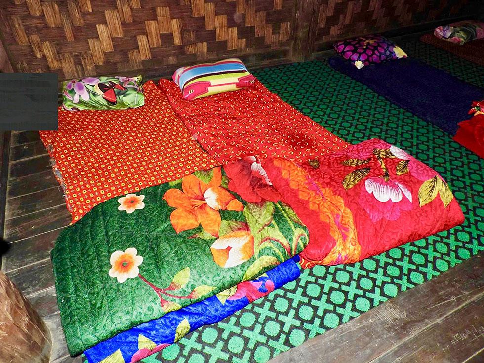 Jha deh Village sleeping quarters